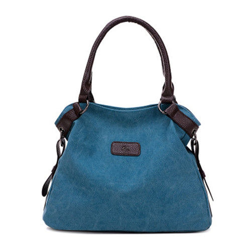 Vintage Canvas Tote Bag for Women