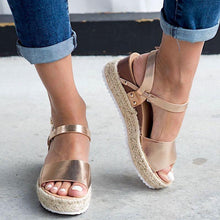 Load image into Gallery viewer, Espadrille Open Toe Thick Bottom Sandals