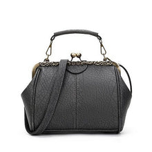 Load image into Gallery viewer, Women Vintage Hasp Bucket Bags PU Leather Handbag Crossbody Bags