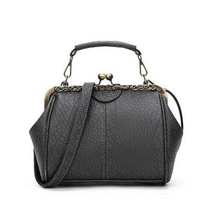 Women Vintage Hasp Bucket Bags PU Leather Handbag Crossbody Bags