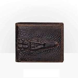 Men 3D Fashion Cowskin Wallet Unique Design Luxury Long Short Purse