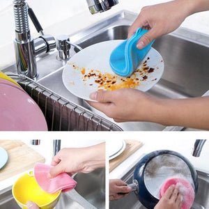 Kitchen Magic Dish Bowl Double Sided Multifunction Pot Pan Cleaning Brushes