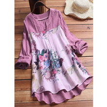 Load image into Gallery viewer, Floral Casual V-Neckline 3/4 Sleeves Dress