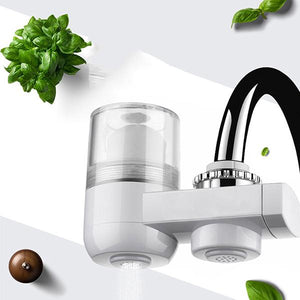 Kitchen Activated Carbon Ceramic Strainer Washable Faucet Filter Water Purifier