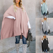 Load image into Gallery viewer, Casual Solid Color Cape Knit Sweater