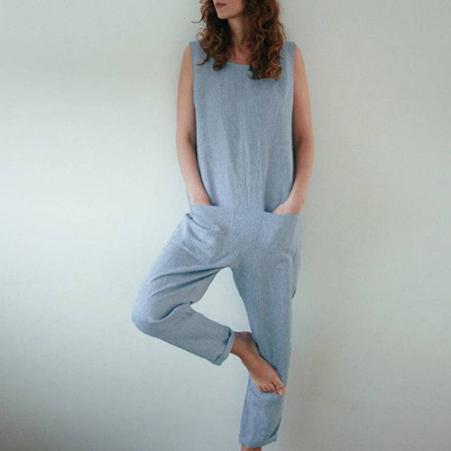 Women Sleeveless Jumpsuits Summer Casual Rompers