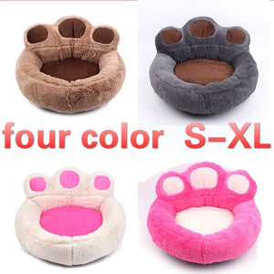 4 Colors Pet Bed Luxury Bear Claw Shape Dog Sofa Sleeping Bed Cats Kennel Goods for Small Dogs Pets Animals