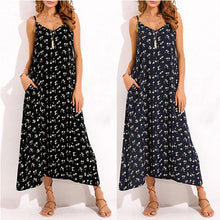 Load image into Gallery viewer, Bohemian Floral Printed Spaghetti Strap Long Maxi Dresses