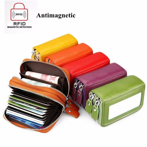 RFID Antimagnetic 11 Colors 11 Card Slots Card Holder Purse