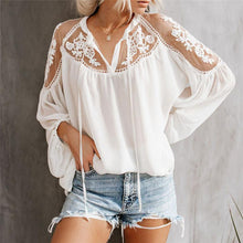 Load image into Gallery viewer, Sexy Plain Loose Lace Sun-Protective Blouses