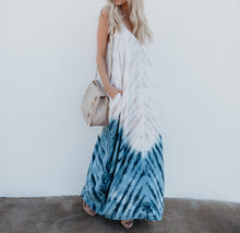 Load image into Gallery viewer, Bohemian Print V-Neck Sling Backless Maxi Dress