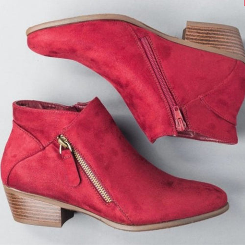 Fashion Spring/Autumn Slip-On Ankle Boots