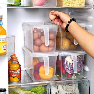 Kitchen Refrigerator Food Container Transparent Home Organizer Food Vegetable Storage Boxes