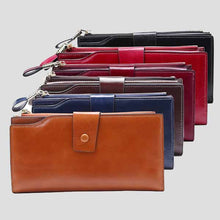 Load image into Gallery viewer, Women Zipper Large Capacity Long Hasp Coin Card Holders Wallet