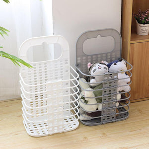 New Foldable Laundry Basket Bag Dirty Clothing Storage Box Kitchen Rack Organizer