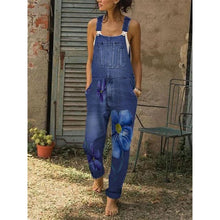 Load image into Gallery viewer, Sleeveless Denim Pockets Jumpsuits&rompers