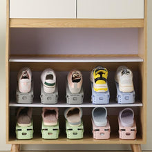 Load image into Gallery viewer, Adjustable Storage Rack Thickened Simple Plastic Double Shoe Rack Innovative Space-Saving Storage