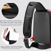 "Load image into Gallery viewer, Men Chest bag for 9.7"" iPad USB Charging Short Trip Messenger Bags"