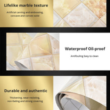 Load image into Gallery viewer, Marble Self Adhesive Waist Line Wallpaper Waterproof Decorative Wall Border
