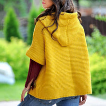 Load image into Gallery viewer, Women Fashion Loosely Knitted Hooded Outerwear