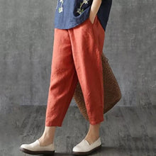 Load image into Gallery viewer, Women Casual Solid Color Elastic Waist Harem Pants