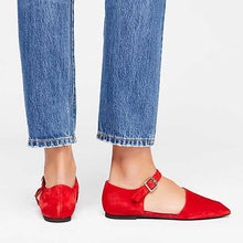 Load image into Gallery viewer, Fashion Square Toed Plain Buckle Flats