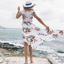 Load image into Gallery viewer, Women Sexy V Neck Split Maxi Dress Beach Dress