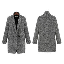 Load image into Gallery viewer, New Style Elegant Houndstooth Slim Thick Coat