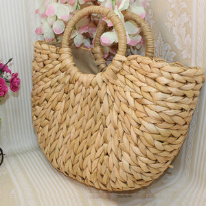 Casual Holiday Wheat Straw Weave Handbag