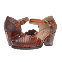 Load image into Gallery viewer, Women Vintage Wave Edge Ankle-Strap Hollow-out Mary Jane Sandals