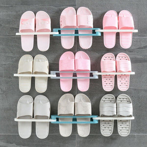 3 in 1 Folding Wall Mounted Folding Slippers Rack