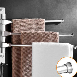 Rotatable Towel Rack Corner Bathroom Shelf