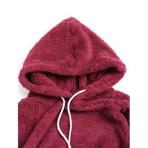 Casual Solid Color Fall Hoodies