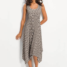 Load image into Gallery viewer, Women Midi Stripes A-Line Daily Cotton-Blend Printed Dresses