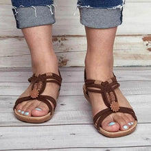 Load image into Gallery viewer, Bohemia Clip Toe Weaving Flat Sandals