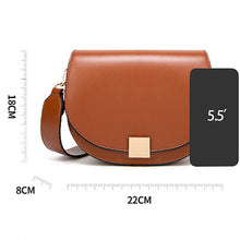 Load image into Gallery viewer, Women's Fashion Spring Lock Buckle Shoulder Saddle Bag