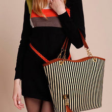 Load image into Gallery viewer, Stripe Pattern Elegant Stylish Dating Handbag