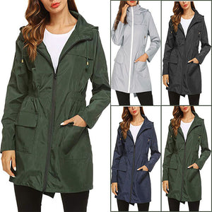 Fashion Hoodie Water-proof Pocket Outdoor Women Coats