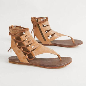 Women Summer Large Size Lace Up Sandals