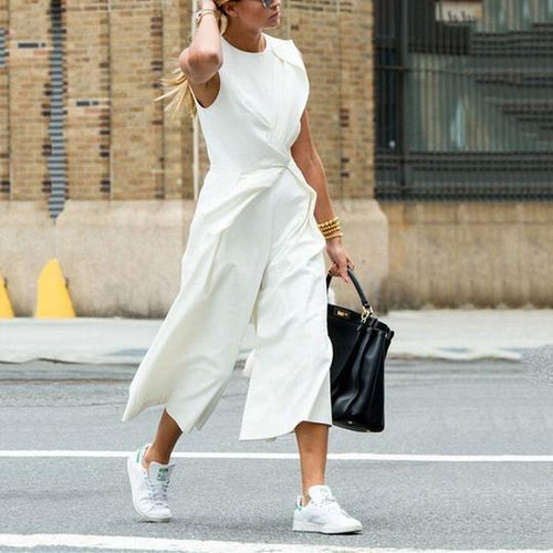 Fasion Casual Solid Color Loose Jumpsuits
