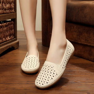 Women Soft Sole Comfortable Hollow-out Loafers