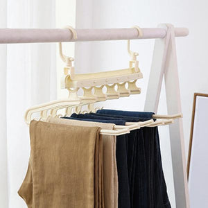 Six-in-One Folding Creative Hanger