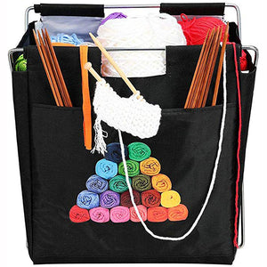 Fold-Up Sewing Needle Weaving Tool  Knitting Bag Yarn Storage