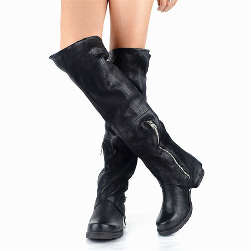 Womens New Long Thick Fashion Knight Boots