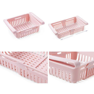 Household Practical Pull Type Refrigerator Fresh-keeping Classification Storage Rack