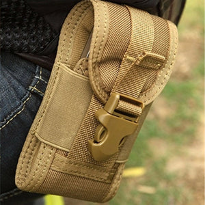 Mens Multi-function Tactical 5-inch Cell Phone Waist Bag