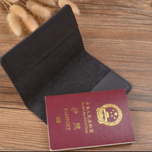 Load image into Gallery viewer, Business Passport Cover Solid Credit Card Holder Unisex Travel Wallet