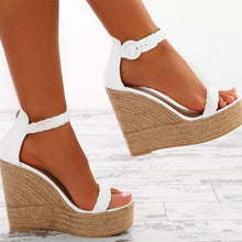 Load image into Gallery viewer, Fashion Wedge High-heel Sandal Shoes
