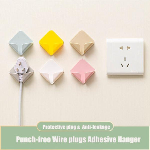6/10pcs Home Wire plugs Adhesive Hanger