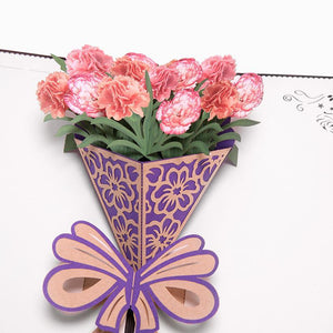 3D Mothers Day Pop Up Flowers Anniversary Birthday Gifts Card